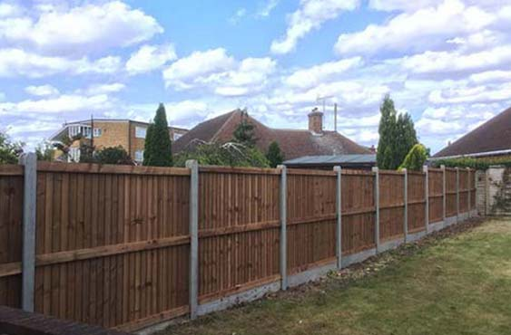 Fence installation after tree removal